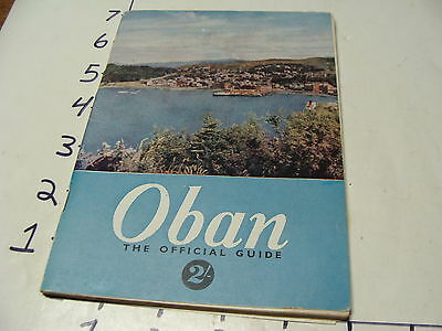 Vintage Travel Paper: OBAN the Official Guide, 104 pages,