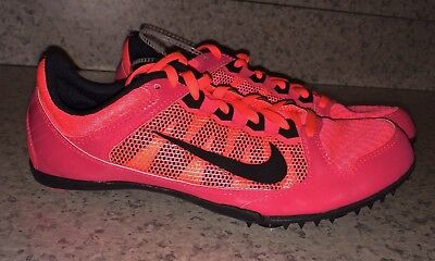 buy popular 58a5e 18091 NIKE Rival MD 7 Atomic Red Mid Distance Track Spike Shoes NEW Men 5 10.5 11