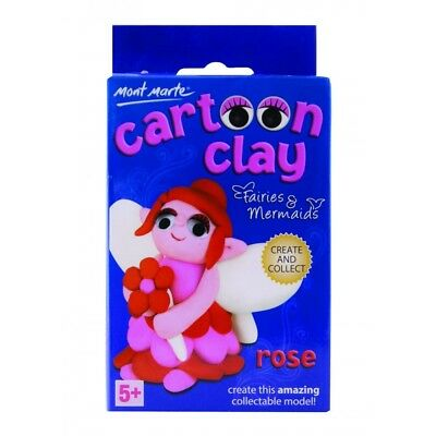 Mont Marte Cartoon Clay Kit Fairies & Mermaids - Rose