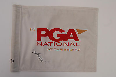 Colin MONTGOMERIE SIGNED Autograph AFTAL COA PGA Belfy Course Used GOLF Flag
