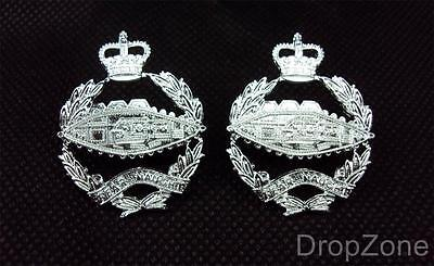 Pair of British Military Army Royal Tank Regiment RTR Collar Dogs / Badges