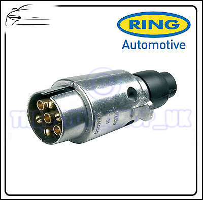 Ring Towbar Towing Trailer 7 Pin Metal 12N Plug A0006
