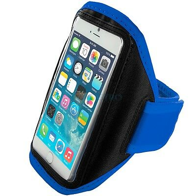 """iPhone 6 (4.7"""") Blue Padded Arm Band Mobile Phone Holder for Running, Jogging"""