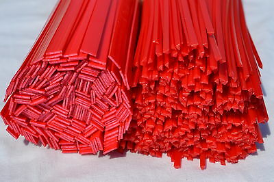 HDPE plastic welding rods (PEHD) red mix 4pcs. Automotive, water industries