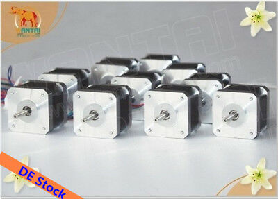EU Free! 10PCS Wantai Nema17 Stepper Motor 0.9° 42BYGHM810 4200g.cm 48mm 2.4A