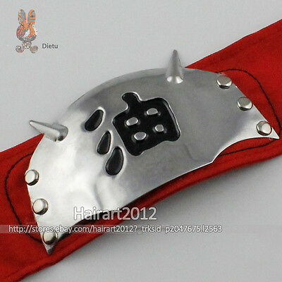 Hot New Naruto Jiraiya Headband Cosplay Headband Gama Sennin Japan Anime Red