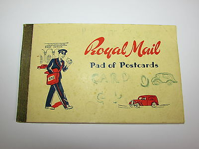 Vintage Original Royal Mail Pad Of Postcards