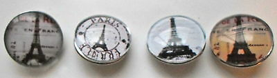 5 Vintage Paris Eiffel Tower Shabby Chic Snap Button for Chunk/Noosa Jewellery