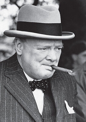 Winston Churchill Awesome Cigar BW Poster