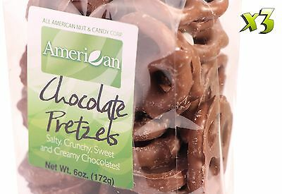 18oz Gourmet Style Bags of Creamy Milk Chocolate Covered Pretzels [1 1/8 lb.]
