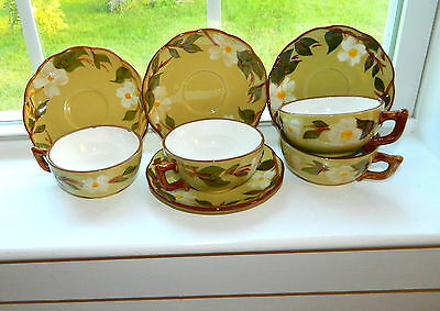 Stangl White Dogwood 4 cup and saucer sets