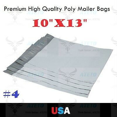 "Premium #4 10x13 Poly Mailer Self Seal Plastic Bag Envelope 10""x13"" High Quality"