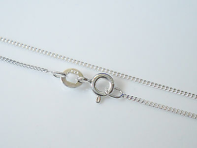 """Childrens Childs Kids 925 Sterling SILVER Curb Chain Necklace 14"""" Inch Length"""