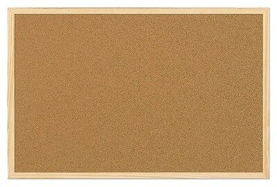 Q CONNECT 900 x 600 CORK NOTICE PIN BOARD / NOTICE MEMO BOARDS - NEW + FIXINGS