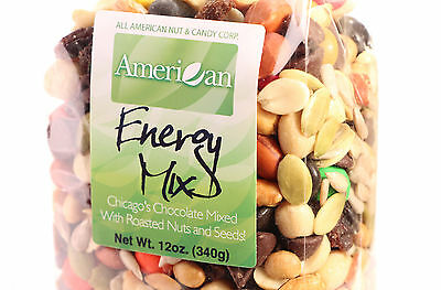 12oz Gourmet Style Bag of Energy Trail Mix with Chicago's Chocolate  [3/4 lb.]