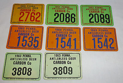 Your Choice One Carbon County Pa Anterless Deer Hunting License Doe Tag
