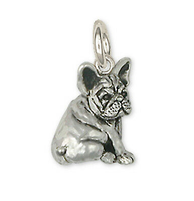 Silver French Bulldog Charms Jewelry - FR21C