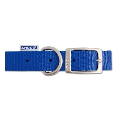 Ancol Nylon Dog Collar Blue