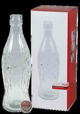 """Coca Cola Giant Glass Bank Display Bottle - 20"""" Tall - Free Shipping"""