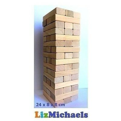 24CM TALL WOODEN TUMBLE TOWER HIGH QUALITY Classic Game Jenga Tumbling