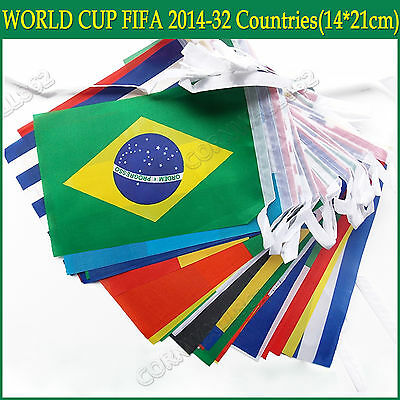 Special decorating BUNTING 14*21cm 32 String banner for nation party Halloween