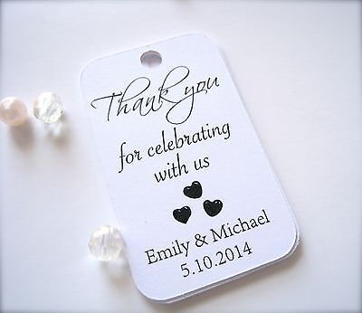 30 Personalized mini favor tags for wedding, party favor tags, gift tags