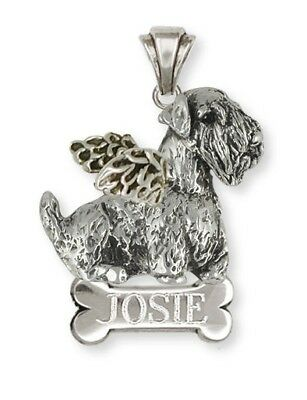 Sterling Silver Personalized Sealyham Terrier Dog Angel Jewelry  SEM1-ANP