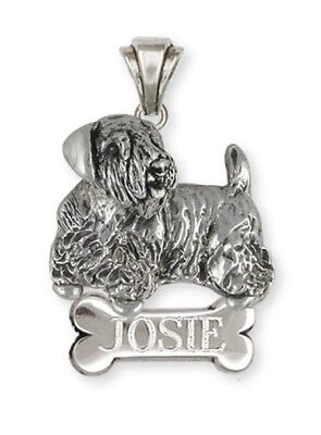 Solid Sterling Silver Sealyham Terrier Dog Pendant Jewelry  SEM2-NP