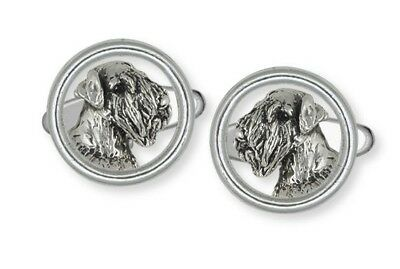 Solid Sterling Silver Sealyham Terrier Dog Cuff Link Jewelry  SEM1-HDCL