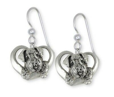Solid Sterling Silver Sealyham Terrier Dog Earrings Jewelry  SEM3-E
