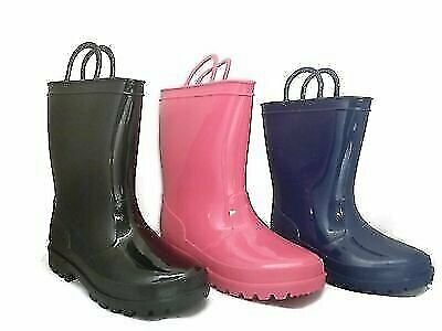 RAIN BOOTS- Navy, Black, or Pink. Infants Toddlers Big Kids. Girls or Boys