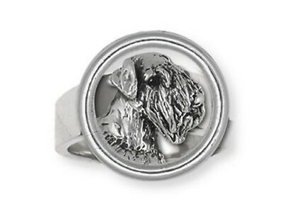 Solid Sterling Silver Sealyham Terrier Dog Ring Jewelry  SEM1-HDR