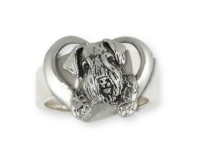 Solid Sterling Silver Sealyham Terrier Dog Ring Jewelry  SEM3-R