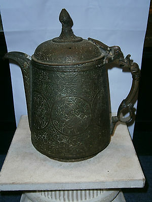 Antique 19C Islamic Indo Persian Ewer Kashmiri Beautiful Decoration Aftaba Old