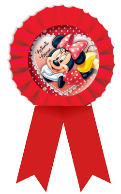Amscan Happy BIRTHDAY GIRL PINK Fabric Rosette Award Ribbon Badge 55mm Diameter