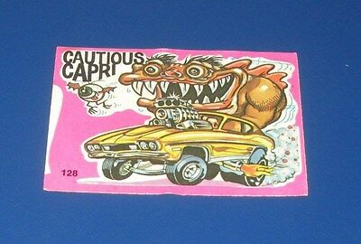 VINTAGE ODD RODS STICKERS #128 CAUTIOUS CAPRI IN EXCELLENT CONDITION