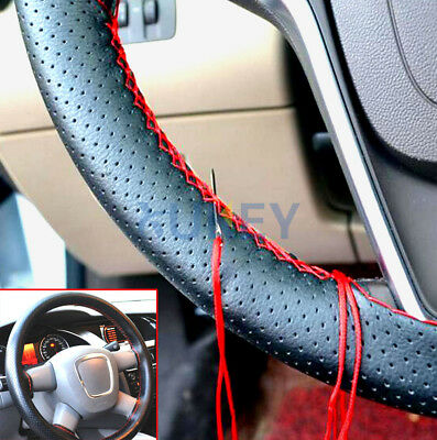 Car Leather Steering Wheel Cover DIY With Thread & Needle Hand Sewing Sew Auto