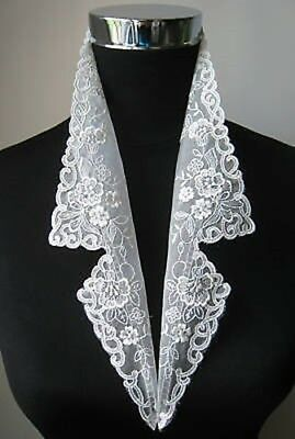 Antique Vintage Style Embroidery Rayon Stand Collar-V0026