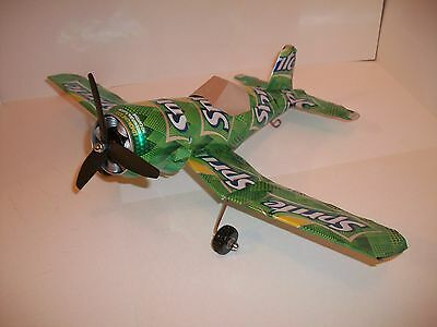 Aluminum soda can handcrafted airplane/SPRITE (TREE)/CORSAIR