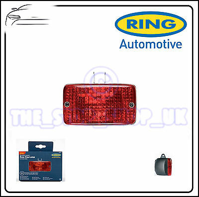Ring Rectangular Rear Red Fog Safety Lamp With Mount RL012 140mm x 115mm x 65mm