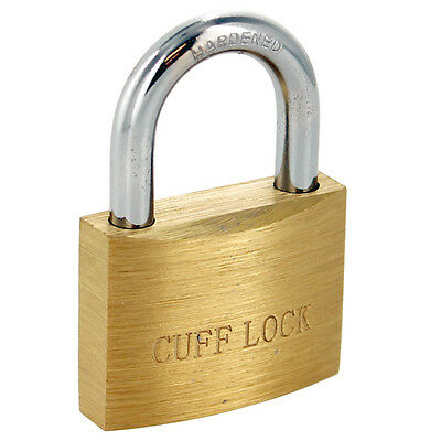 Cuff Lock Handcuff Key Padlock, Plain Brass