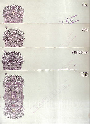 INDIA CANCELLED HUNDI RUPEES 10, 2RS 50NP, 2RS & 1 RUPEE 4 DIFFERENT # 8