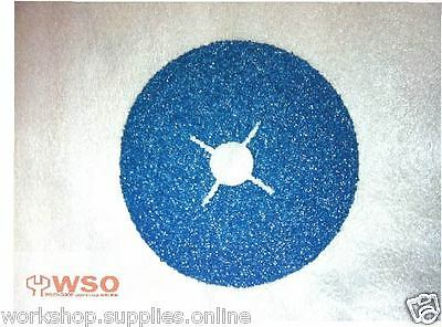 "100pc,115mm 4.5"" FIBRE SANDING DISCS,ZIRCONIA METAL WOOD PAINT ANGLE GRINDER"
