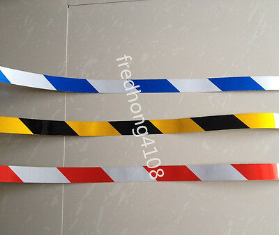 Stripe Safety Reflective Tape Caution Warning Tape Sticker 2.5cmX10M