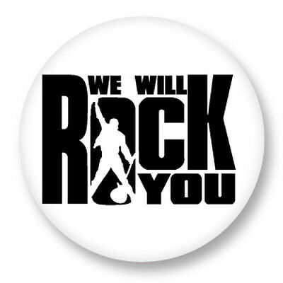 Pin Button Badge Ø38mm Queen Freddie Mercury We Will Rock You