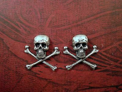 Small Oxidized Silver Rose Charms SORAT6636//1R 6