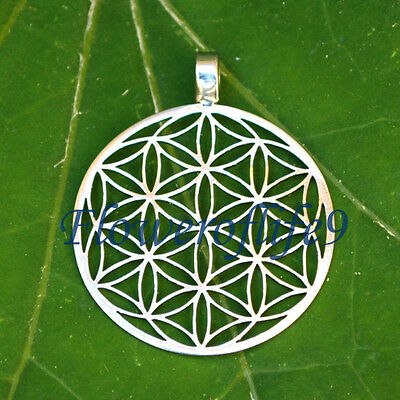 Flower of life pendant (seven circles) 1 1/10 - Stainless Steel