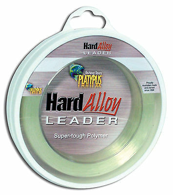 Platypus Hard Alloy Ultimate Fishing Leader - Since 1898!  200 lb 50m spool