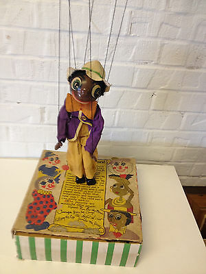 Vintage 1940's / 1950's Effanbee Doll Co. Jambo The Jiver Black Marionette Doll