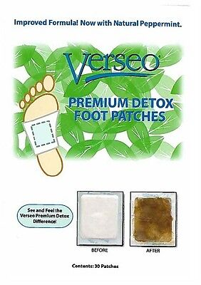 Verseo Premium Detox Foot Natural Cleansing Patches, 30 Patches Brand New Sealed